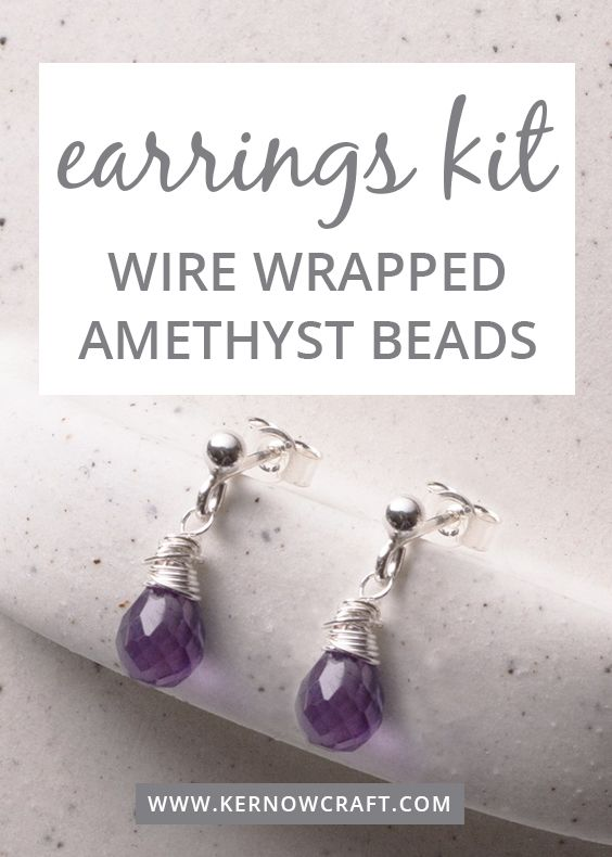 Make Your Own Amethyst Earrings Follow Our Step By