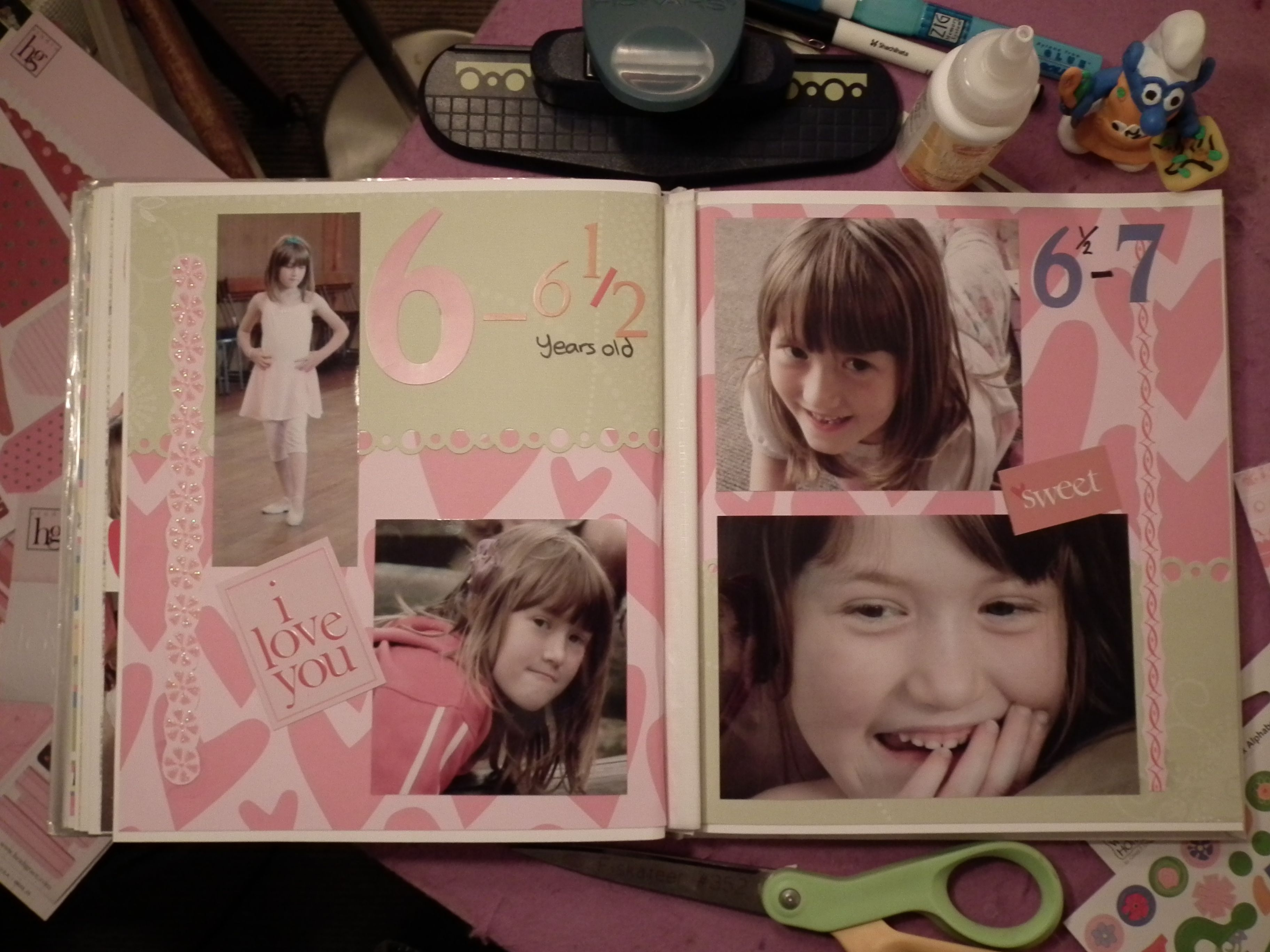 How to scrapbook 8x8 layouts - Double 8x8
