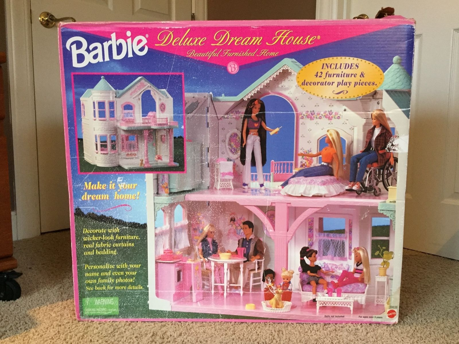 make your own barbie furniture. 1998 Deluxe Barbie Dream House With Working Elevator \u0026 Original Furniture - Victorian No. Make Your Own