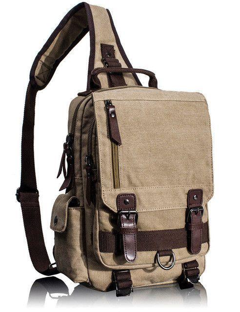 e235d2d56131 Tourya Canvas Crossbody Bags for Men Female Messenger Chest Bag Pack Sling  Bag Large Capacity Handbag Single Shoulder Strap Pack