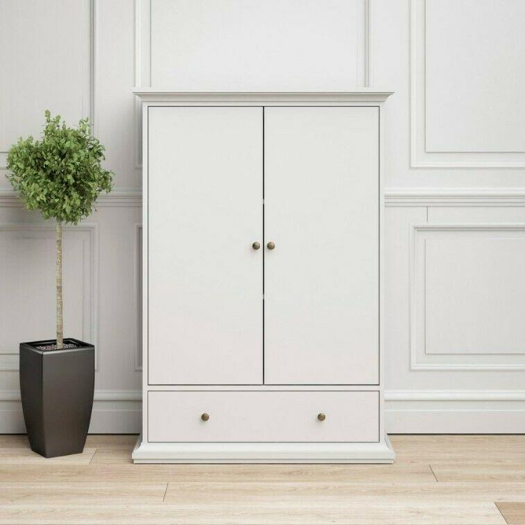 Best Low Wardrobe 2 Doors 1 Drawer Clothes Cabinet Combi 400 x 300