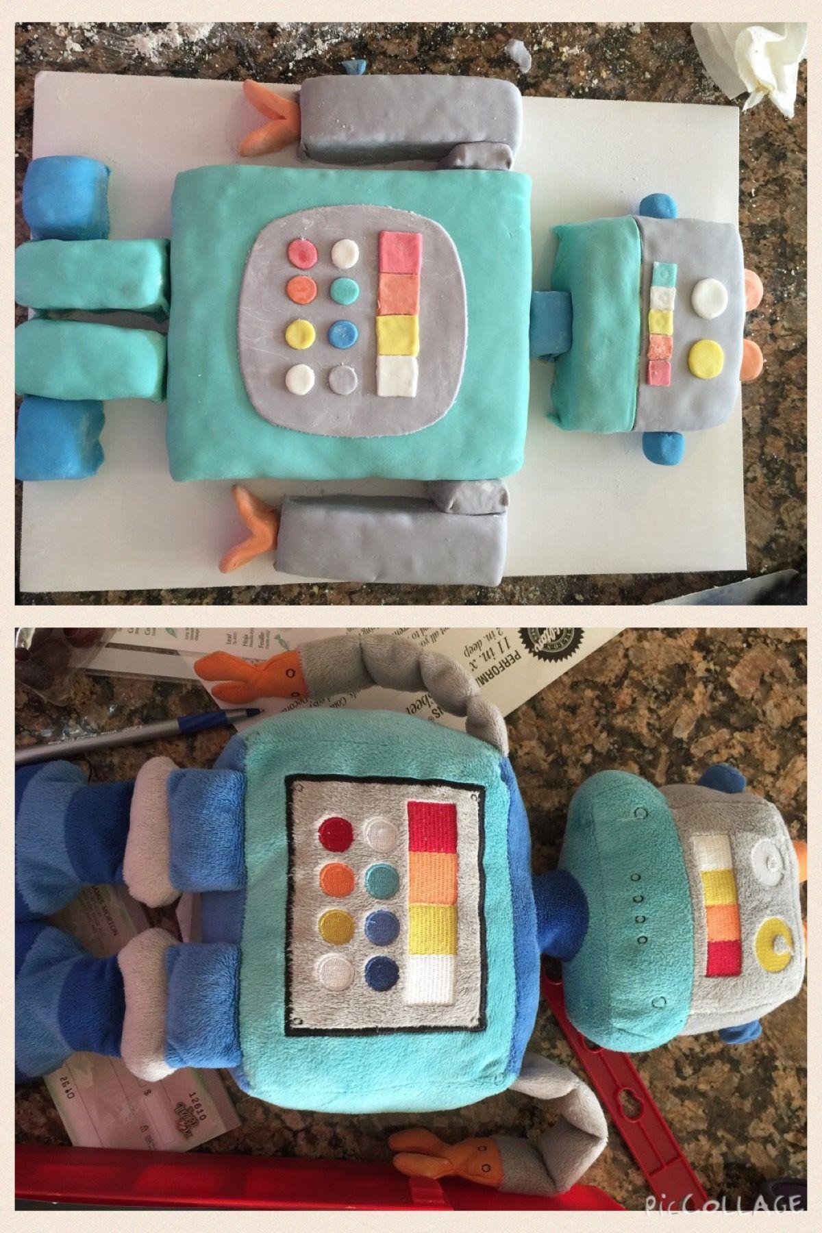 Owen's 4th birthday Robot cake.