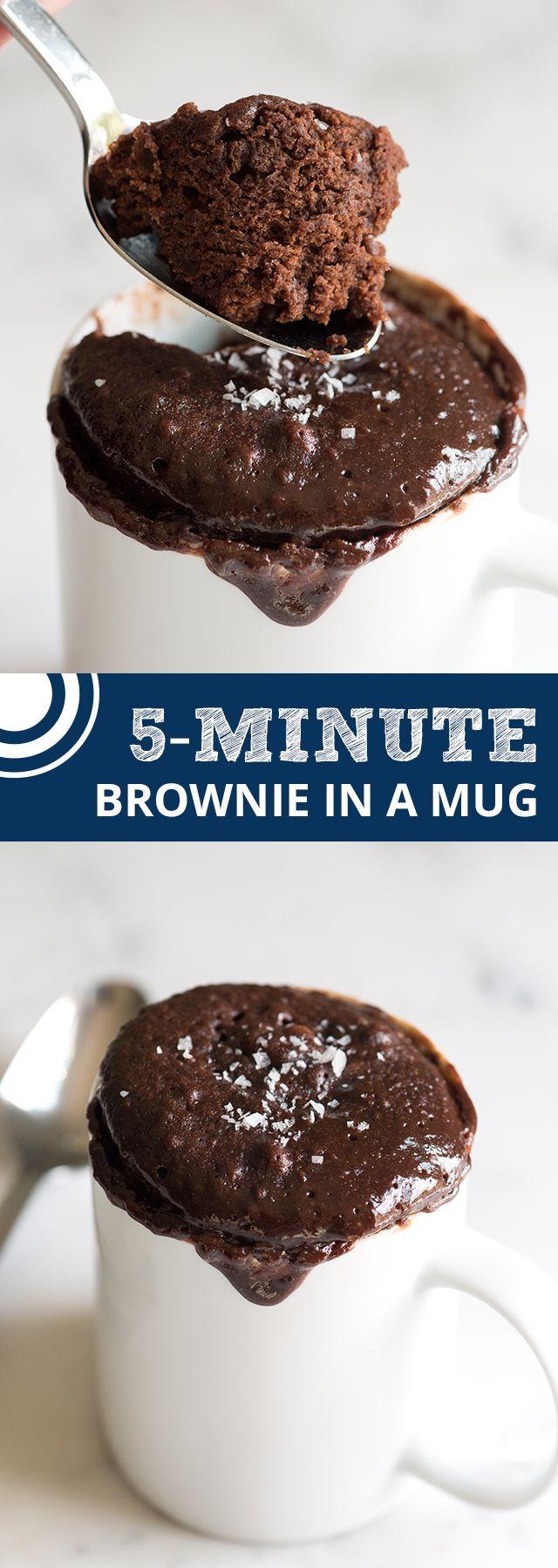 Easy Microwave Brownie in a Mug | Recipe | Mug recipes ...