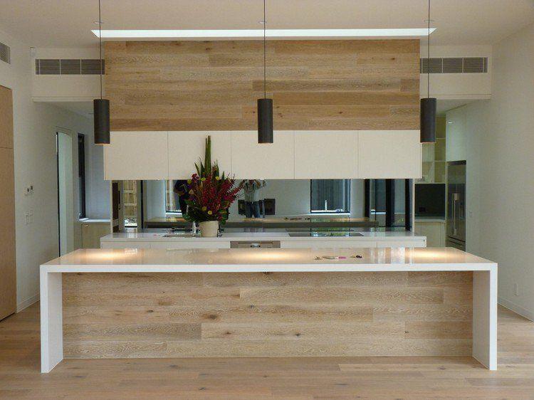 Cuisine moderne bois chêne | Discover more ideas about Open kitchen
