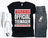 Thirteen Birthday, Official Teenager Shirt, 13th birthday Boy, 13th Birthday Girls Tee, Birthday boy Gift, 13th Birthday shirt