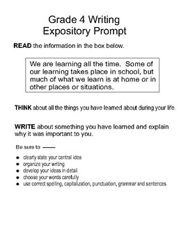 You Will Love These Expository Prompt Because They Are Already In Staar Format For 4th Grade K Writing Prompts What Good Essay Topics High School Topic Some
