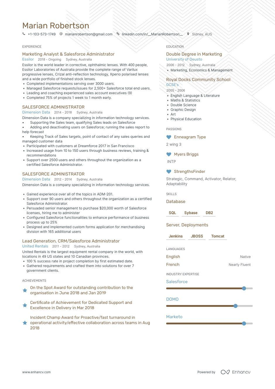 6 Examples Of Salesforce Cvs Instructions And Examples Presented Information Technology It Resume Examples 6 Salesforce Resume Examples How To Guid
