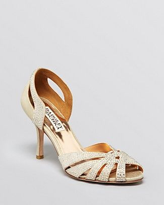 Badgley Mischka Peep Toe D'Orsay Evening Sandals - Tatiana High Heel   Bloomingdale's
