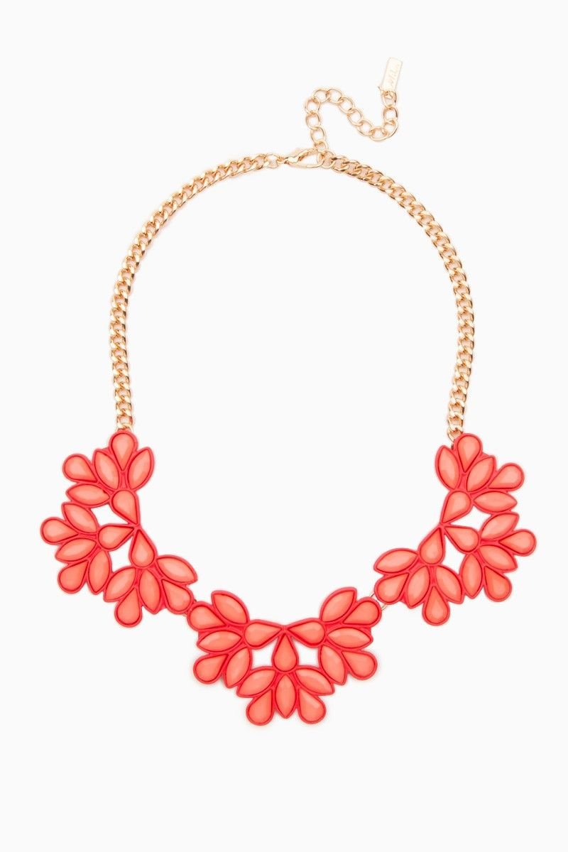 Maurine Necklace / ShopSosie #floral #motif #design #statement #necklace #shopsosie #sosie
