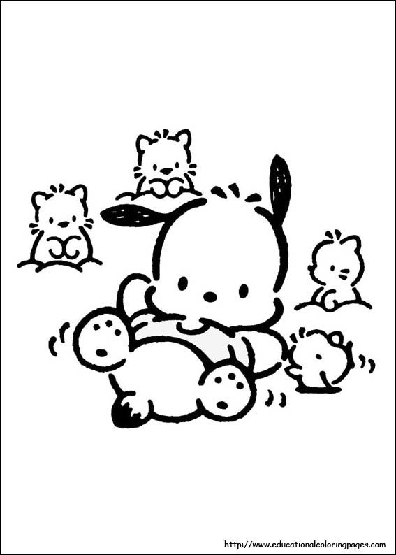 Pochacco 02 Jpg 567 794 Hello Kitty Colouring Pages Hello Kitty Coloring Manga Coloring Book