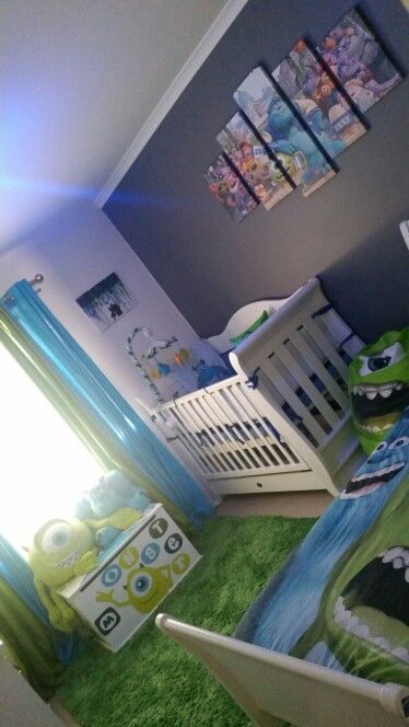 New Art Work Monsters Inc Disney Baby Nurseries Disney Baby Rooms Monsters Inc Nursery