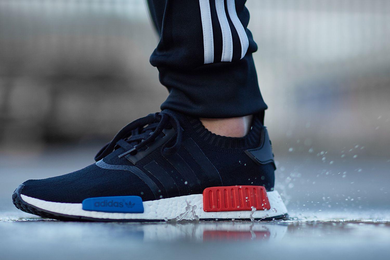 adidas boost black red blue