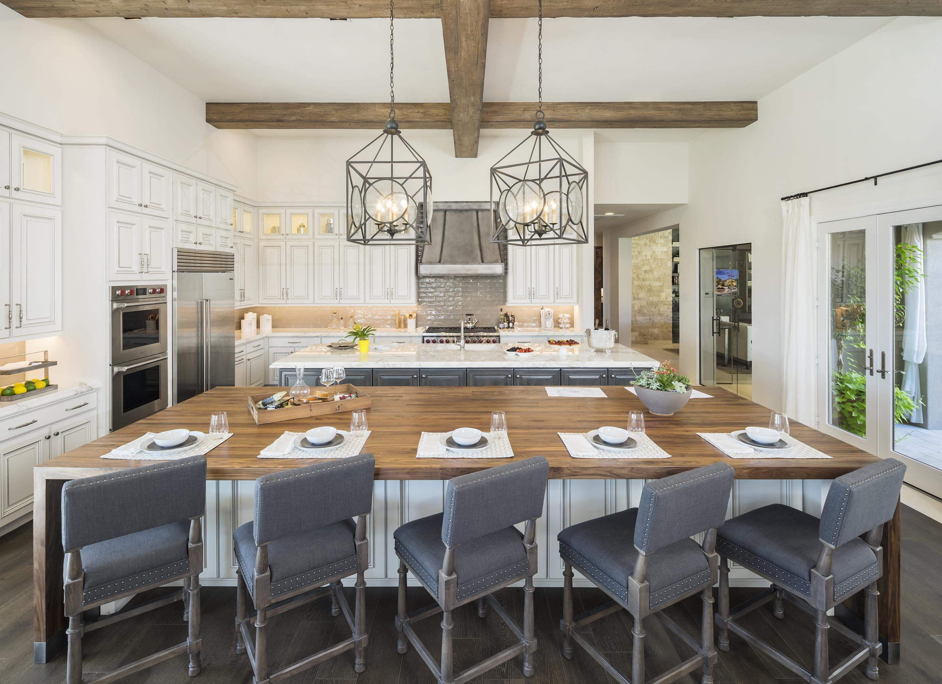 this table is perfect for a meal for family and friends from rh pinterest com