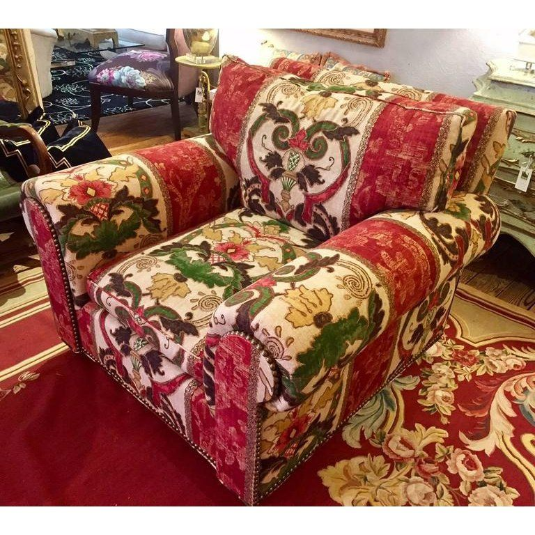 Awesome Traditional George Smith Red Upholstered Arm Chairs A Pair Inzonedesignstudio Interior Chair Design Inzonedesignstudiocom