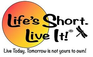 Life's Short. Live It! Logo1 Sticker