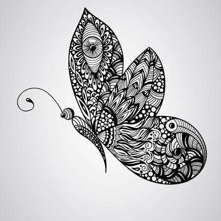 Stock Vector en 2020 | Comment dessiner un papillon ...