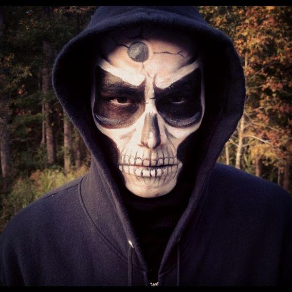 skull makeup mens halloween costumes make up ideas - Skull Faces Halloween