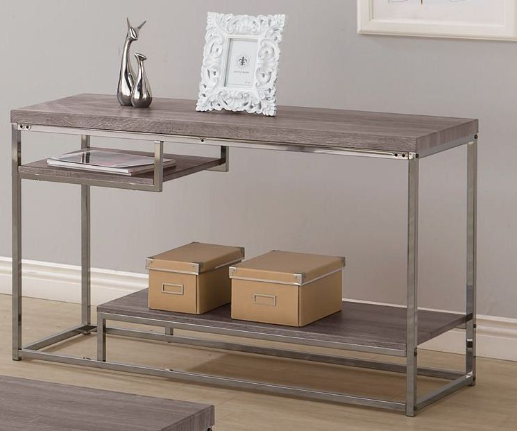 Tremendous Tri Level Weathered Grey Sofa Table Coaster 703729 Ideas Short Links Chair Design For Home Short Linksinfo