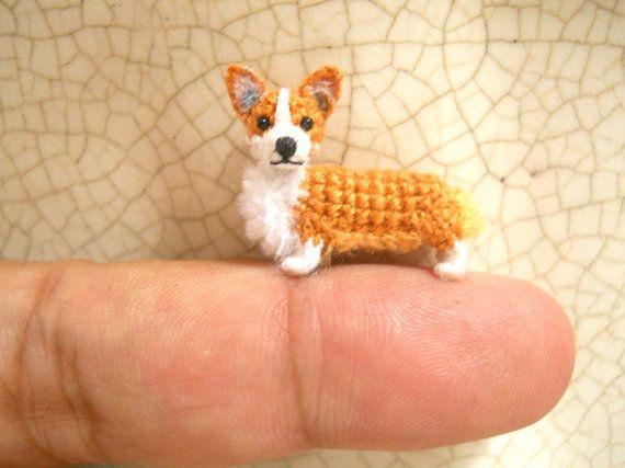 Pembroke Welsh Corgi Amigurumi Crochet Tiny Dog Stuff Animal
