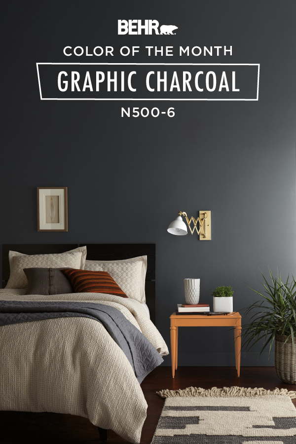 Color Of The Month Graphic Charcoal Colorfully Behr Master Bedroom Paint Bedroom Wall Paint Bedroom Wall Colors