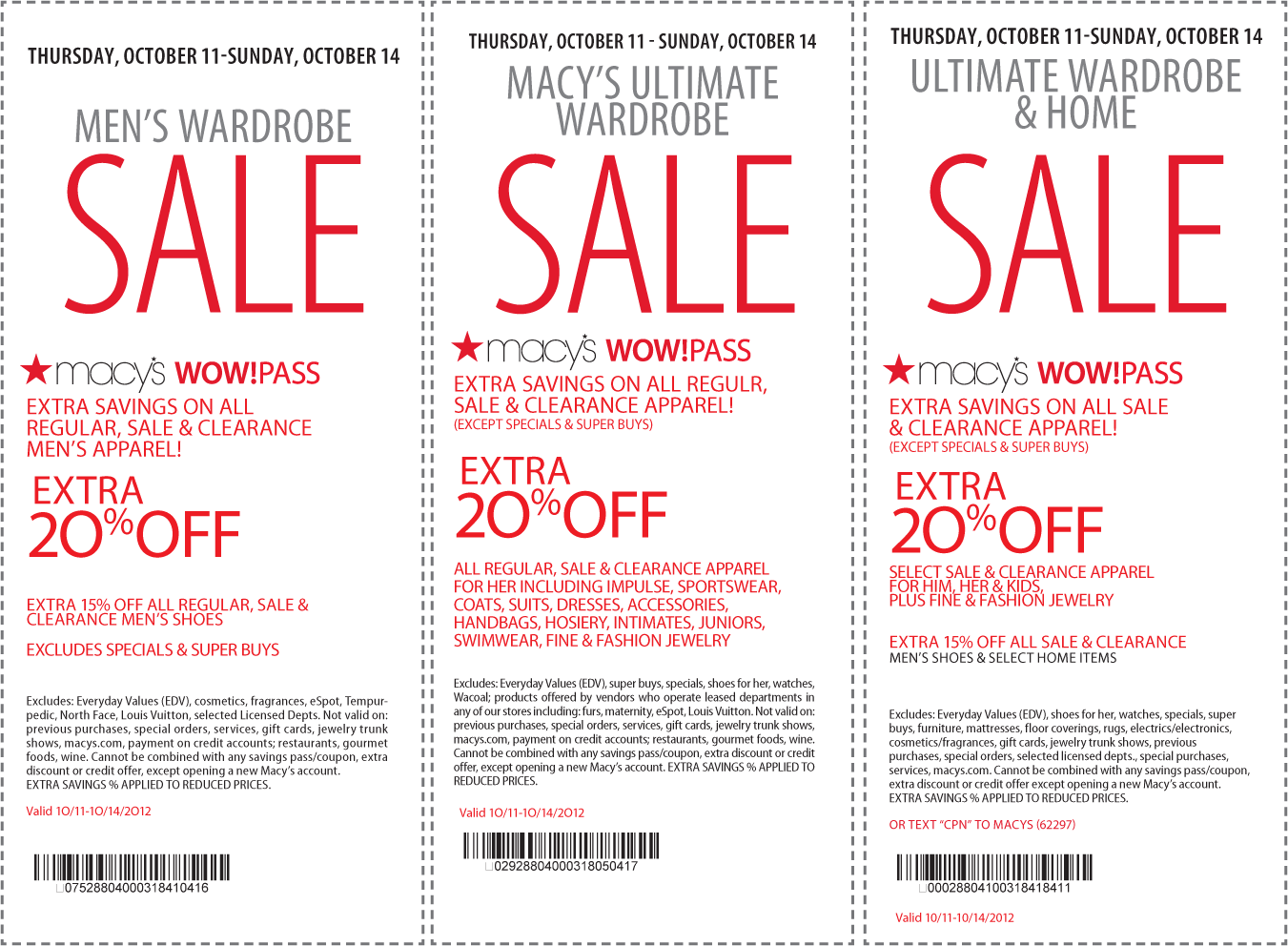Extra 20 off apparel and more at Macys includes