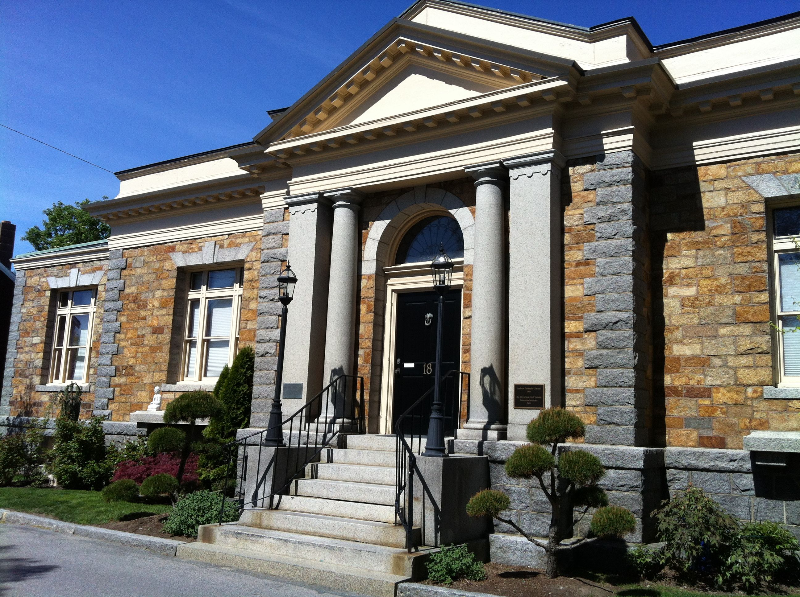 Andrew Carnegie Library 1904, now a private home. Rockport ... Andrew Carnegie Library