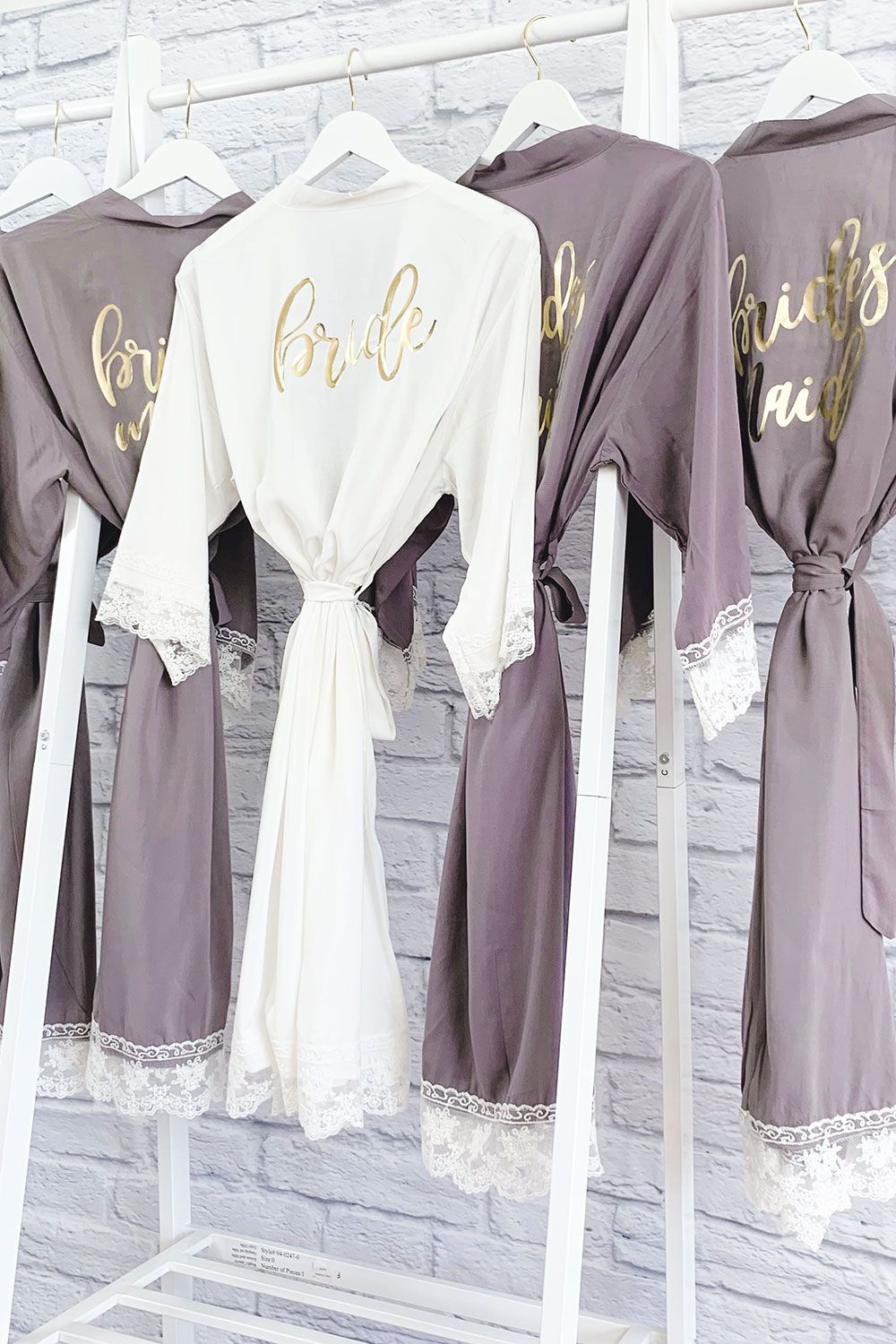 Bridesmaid Robes - Cotton Lace