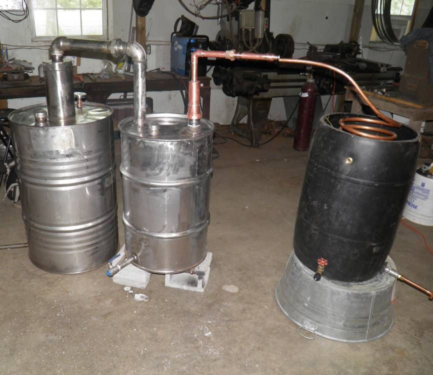 55 Gallon Alcohol Fuel Ethanol Moonshine Stainless Steel and