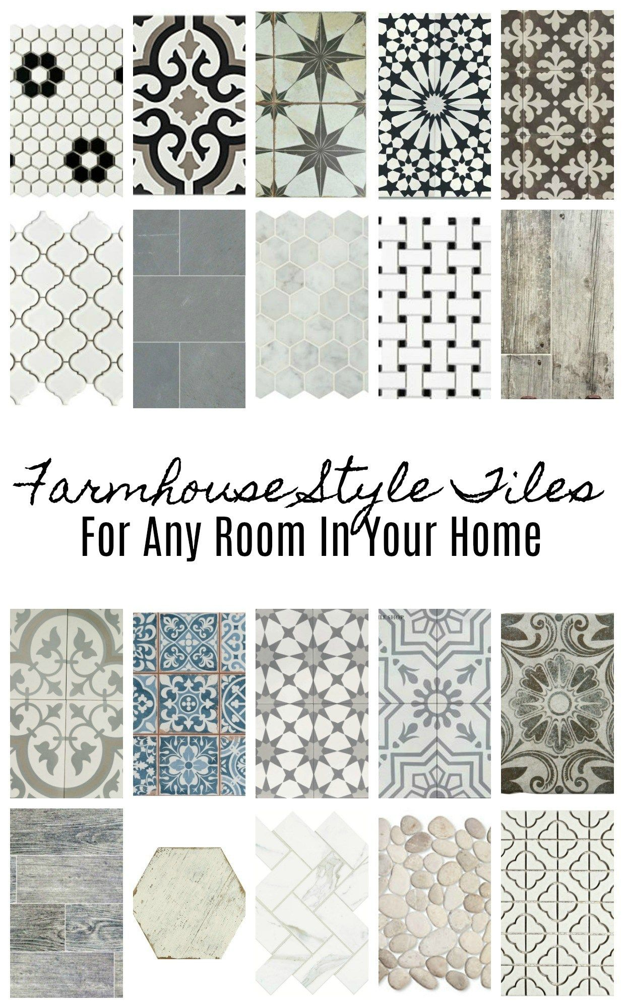 20 Beautiful Farmhouse Style Tiles Farmhouse Flooring Style Tile Country Farmhouse Decor