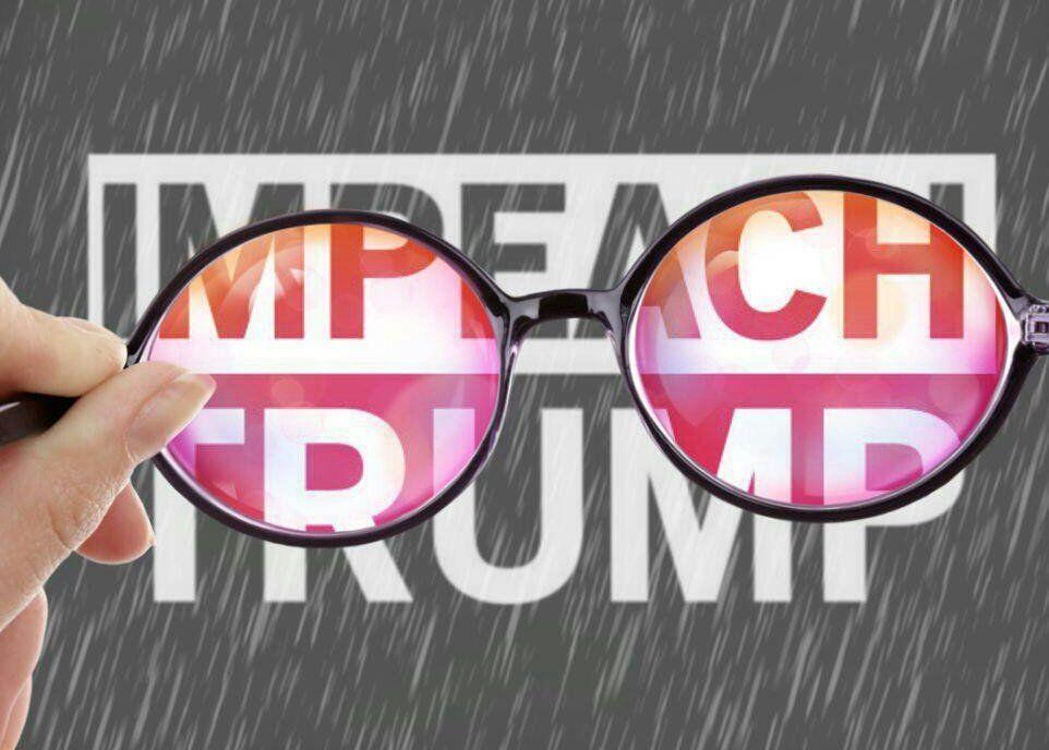 Impeach the Peach Donald Trump Funny Circle Bumper Window Sticker