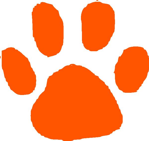 Orange Tiger Paw Print Google Search Tiger Paw Print Paw Print Clip Art Clip Art