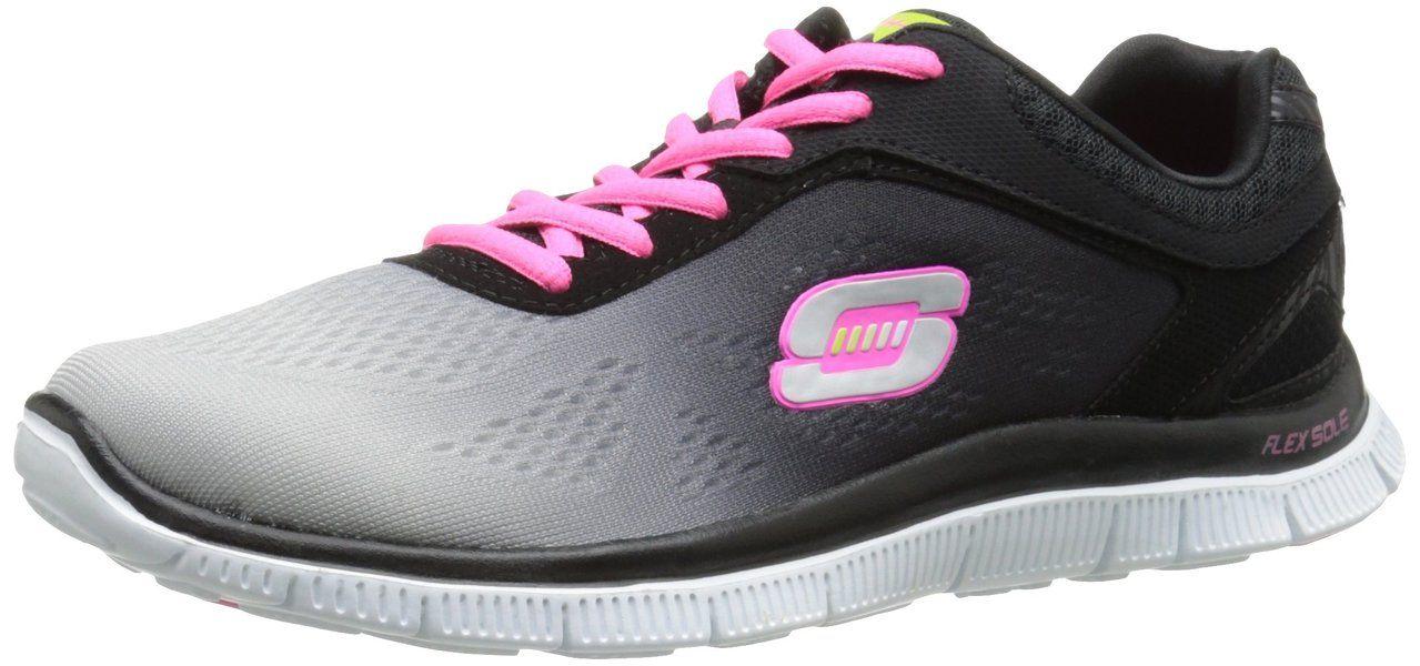 Flex Appeal Style Icon - Zapatillas de Deporte de material sintético mujer, Negro (Schwarz (BKLG)), 36 Skechers