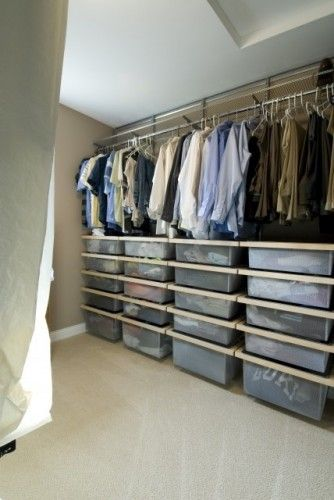 storage in closet w/sloped ceiling