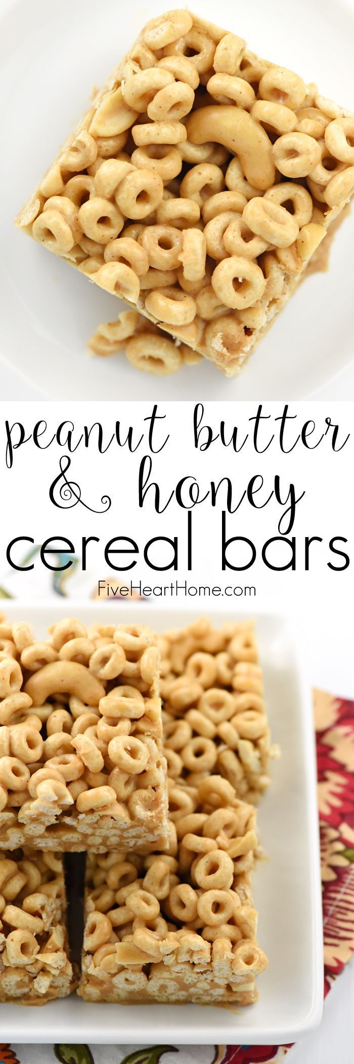 Peanut Butter & Honey Cereal Bars whole grain toasted