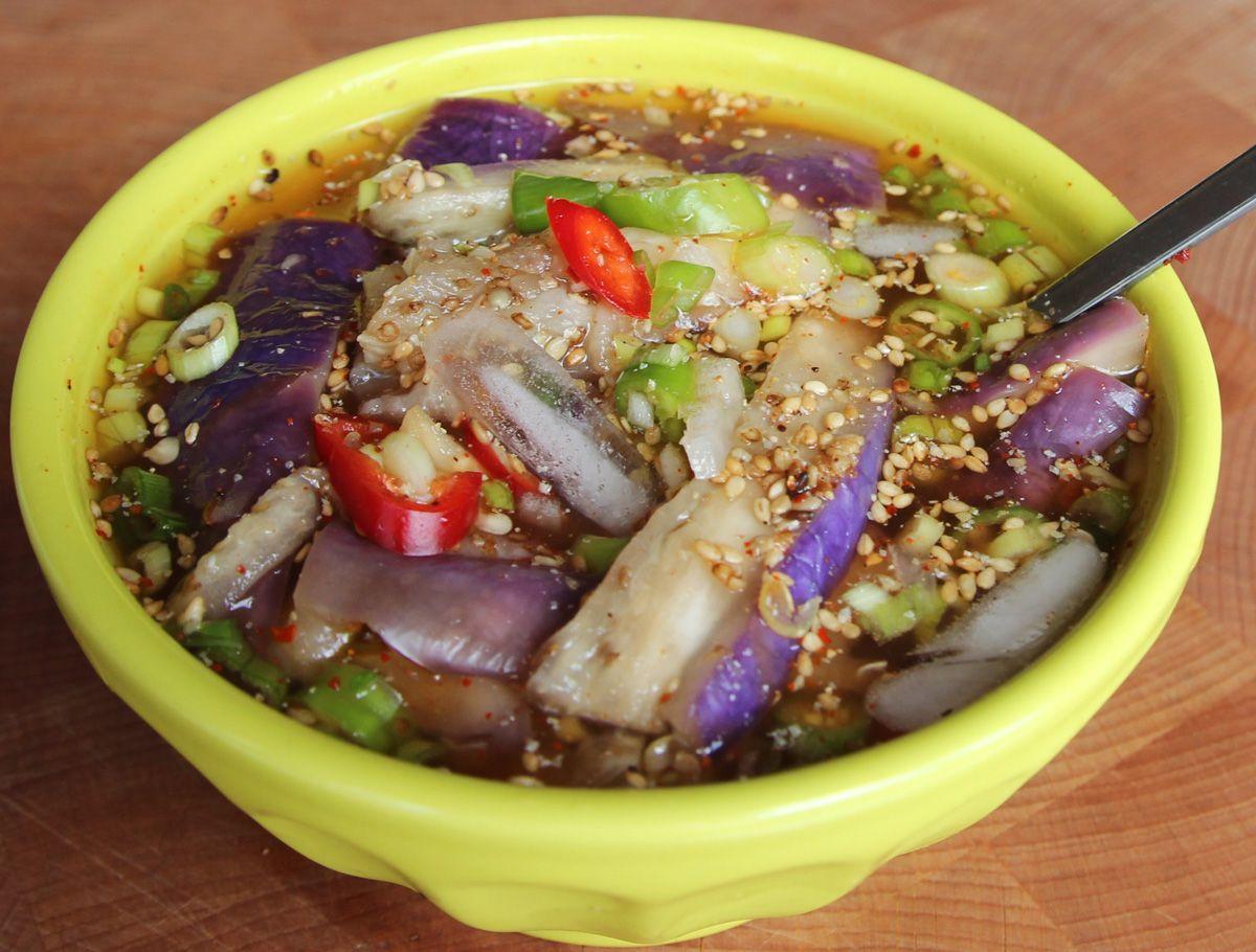 Gaji naengguk recipe dishes recipes eggplants and dishes gaji naengguk eggplant side dishesfood forumfinder Choice Image