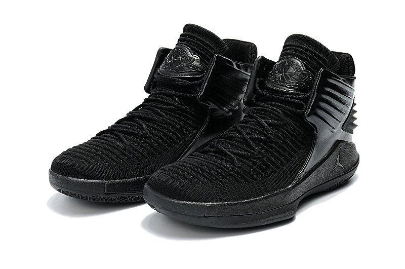 Air jordan 32 xxx2 womens all black basketball shoes size