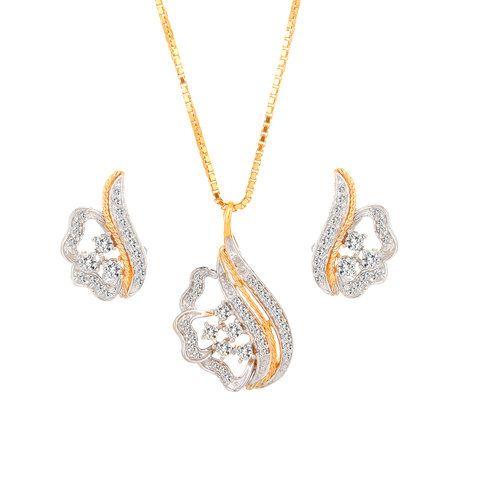 Astonishing gold and diamond tanishq pendant set gold pendants astonishing gold and diamond tanishq pendant set aloadofball Gallery