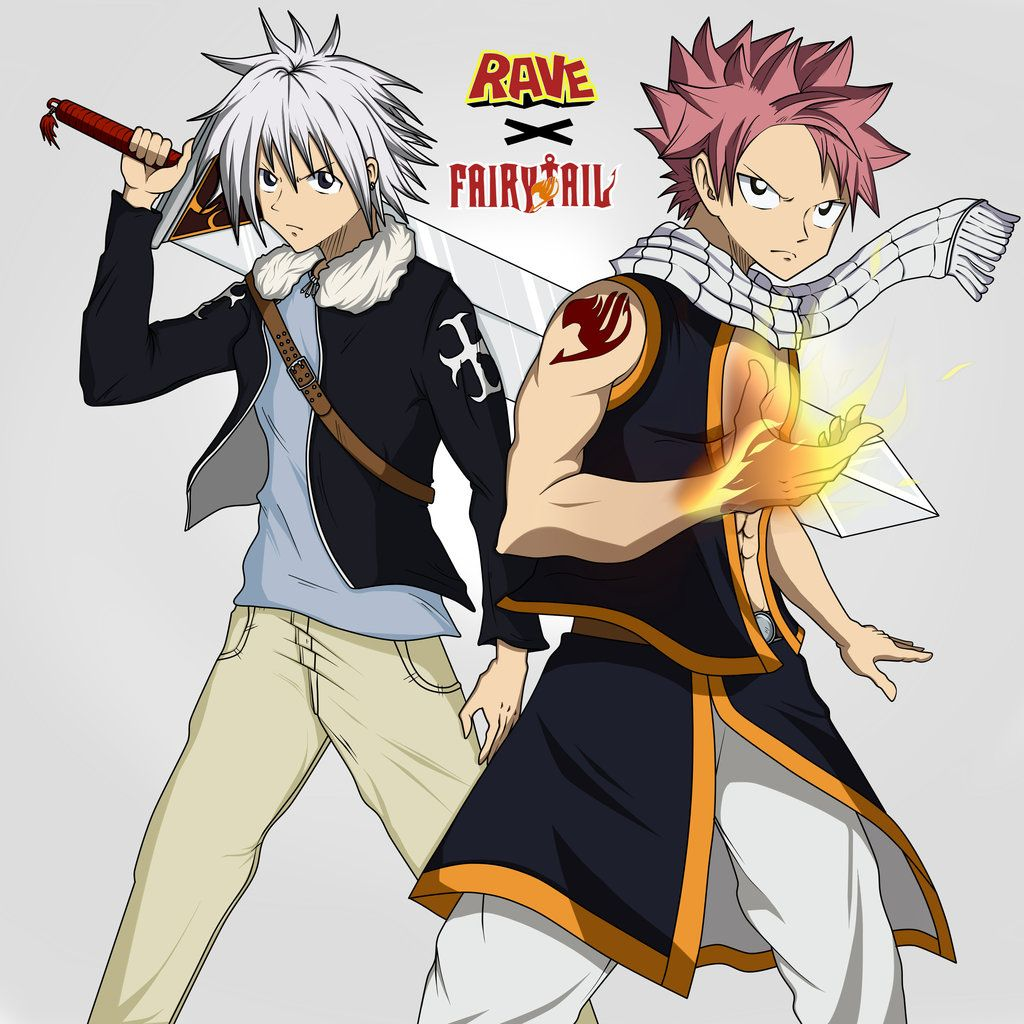 Natsu of fairy tail and haru of rave master rave master