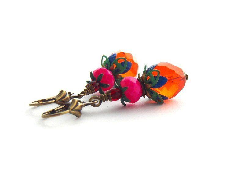 Ohrringe - KuntaBunt von Perlenfontäne auf DaWanda.com