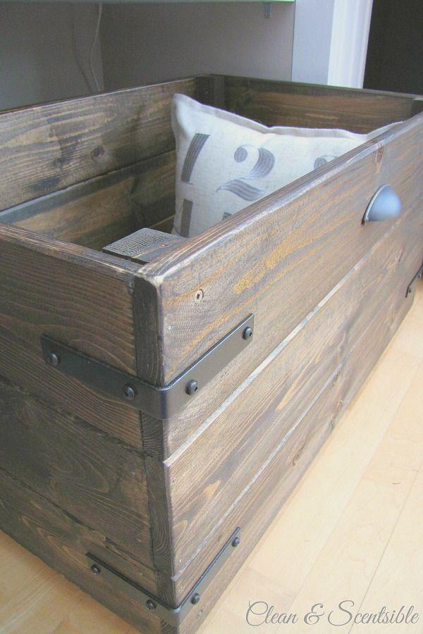 Diy Wooden Crate Tutorial Diy Wooden Crate Wooden Diy Wood Diy