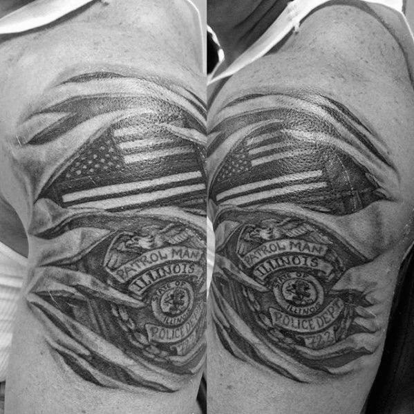 Top 47 Police Tattoo Ideas 2020 Inspiration Guide Police Tattoo Tattoos Police Officer Tattoo