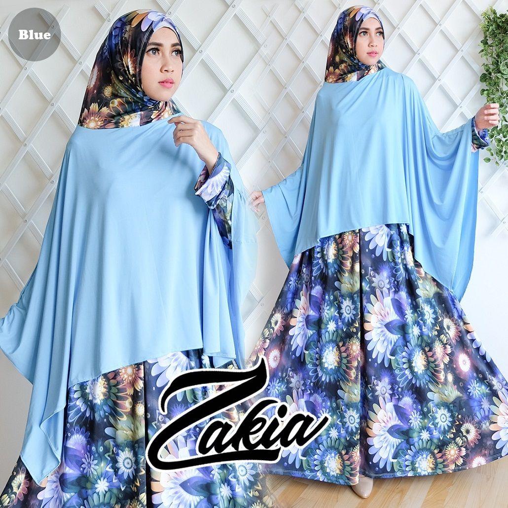 Baju Muslim Gamis ZAKIA Syari ini di design Modern dan dengan warna serasi  serta menggunakan bahan yang nyaman di pakai a4fc30bc5b