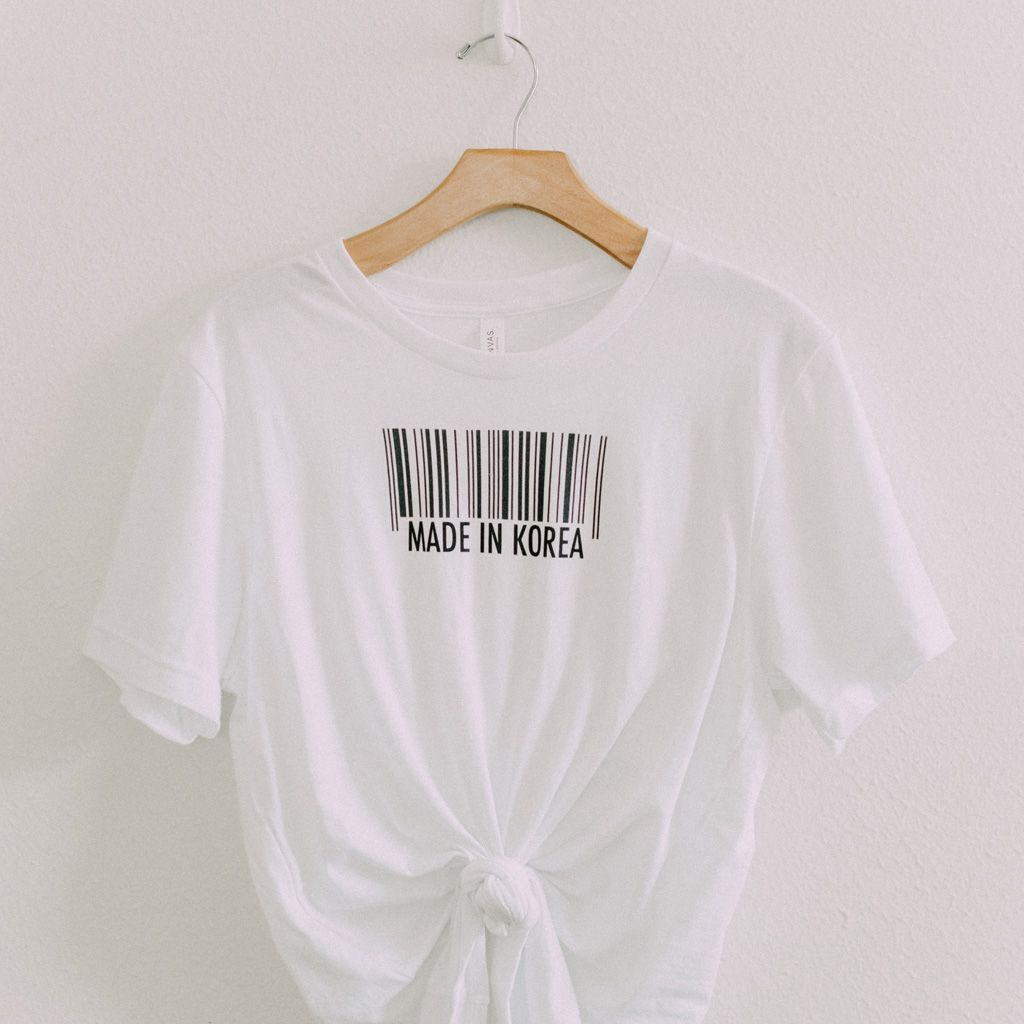 cce030be101a9 Made in Korea Graphic T-Shirt in 2019 | Minimalist Fashion | Korean ...