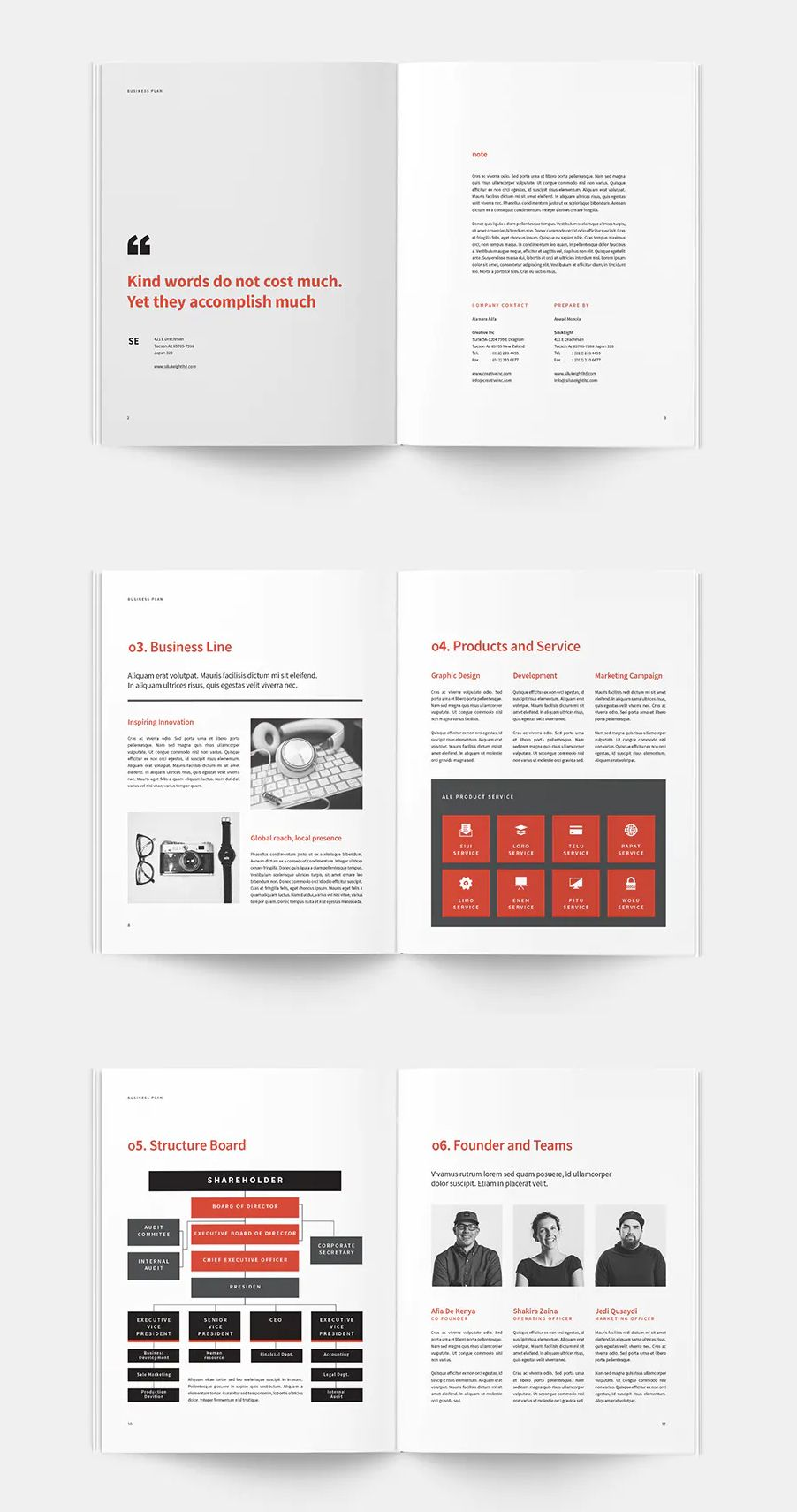 Business Plan Brochure Template InDesign INDD. 20 Pages