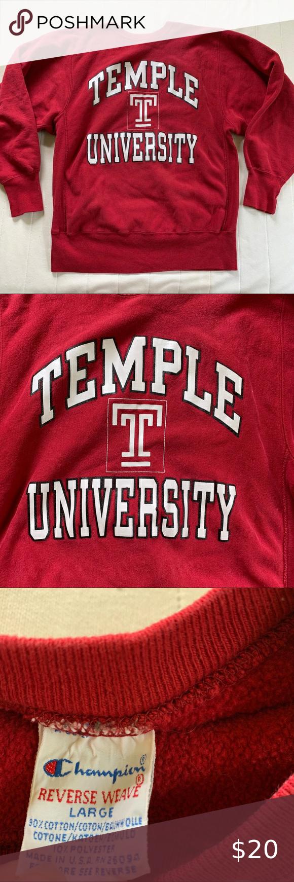 Temple University College Vsco Oversized Crewneck Oversized Crewneck Temple University Colleges And Universities [ 1740 x 580 Pixel ]