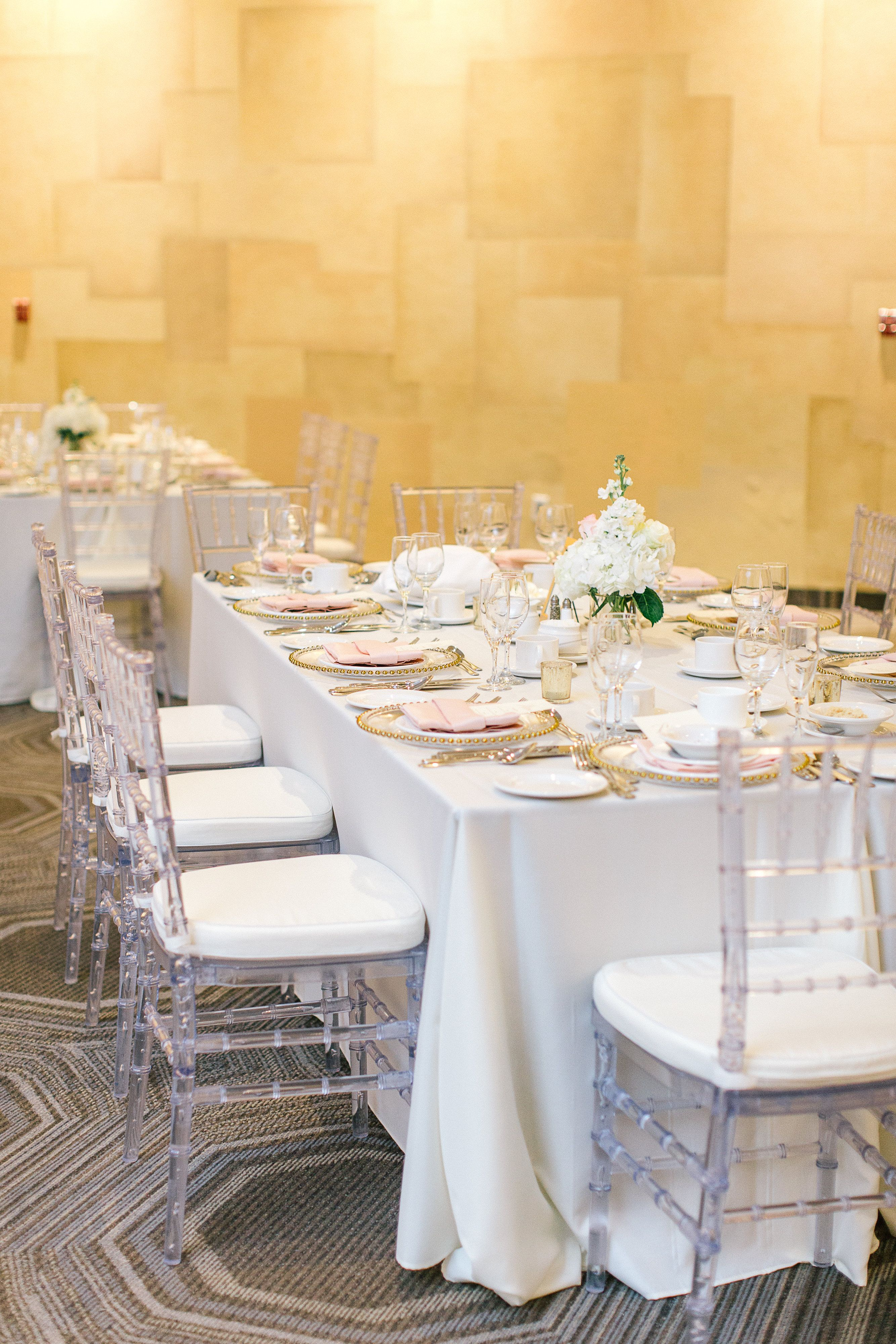 Reception Table Design Crystal Chiavari Chairs Gold Beaded Charger Plates Photo Tamara Lockwood Photography Decor Wedding Decorations Chiavari Chairs
