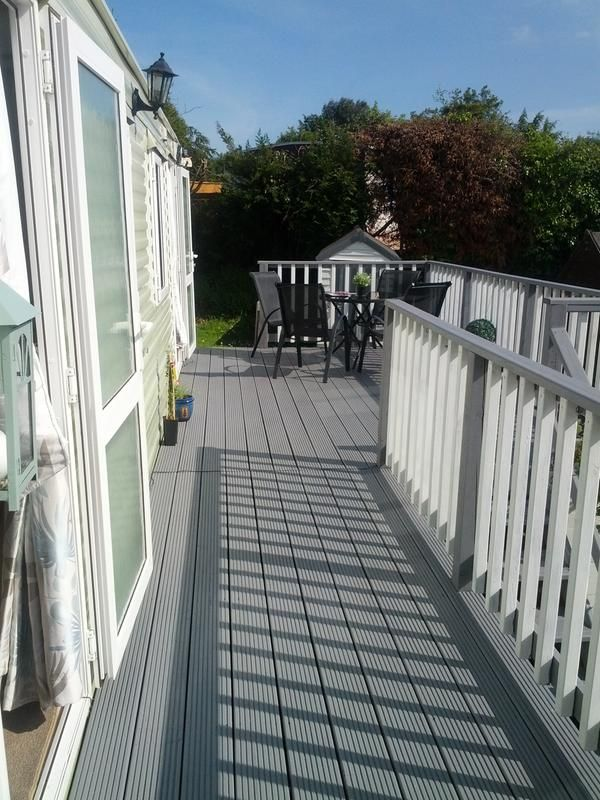 Decking In Cuprinol Ultra Tough Silver Birch Decking Stain