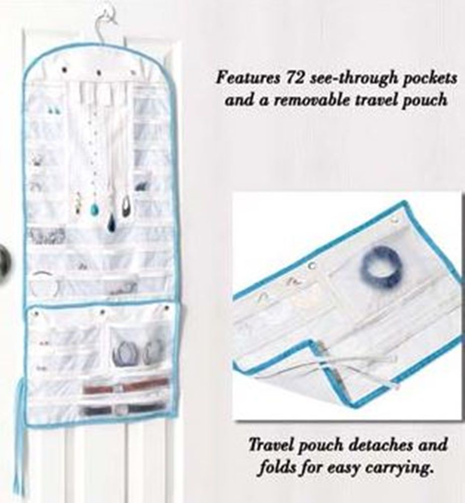 Avon Closet Hanging Jewelry Accessory Organizer Storage Pouches Door