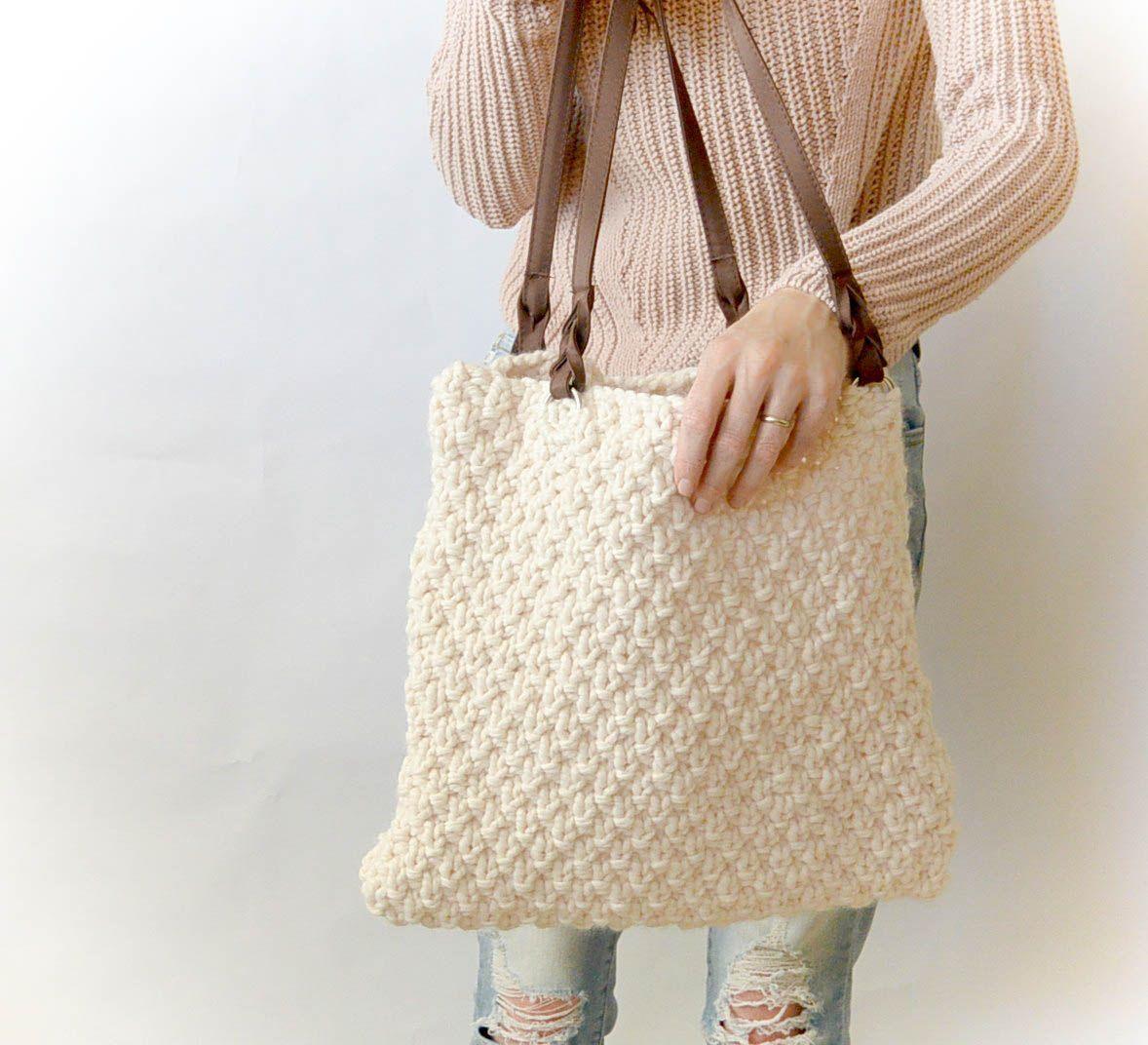 Aspen Mountain Knit Bag Pattern | Seed stitch, Stitch and Brain