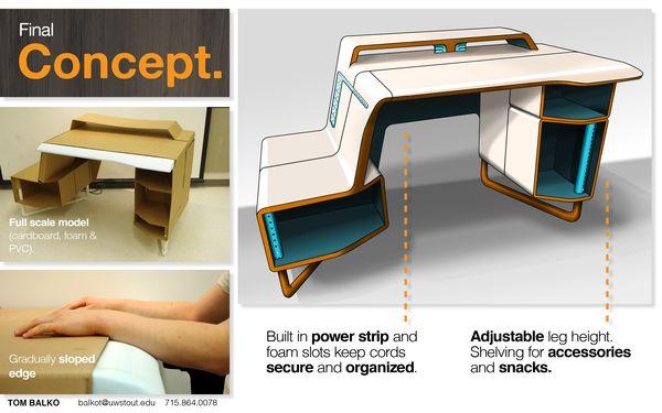 Simple Gaming Computer Desk